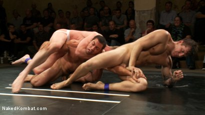 Photo number 5 from Intense Live Tag-Team Match! shot for Naked Kombat on Kink.com. Featuring Parker London, Brenn Wyson, Leo Forte, DJ and Blake Daniels in hardcore BDSM & Fetish porn.