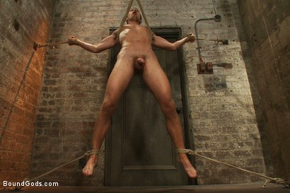 Photo number 14 from Boy's Quest to Find A Master shot for Bound Gods on Kink.com. Featuring Phenix Saint and Kyle Quinn in hardcore BDSM & Fetish porn.