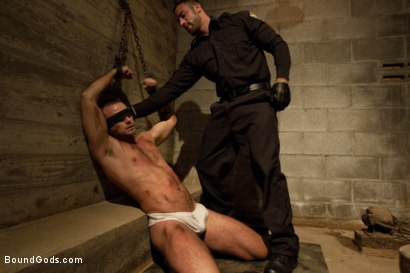 Photo number 1 from The Most Violent Orgasm in Bound Gods History shot for Bound Gods on Kink.com. Featuring Spencer Reed and Jessie Colter in hardcore BDSM & Fetish porn.