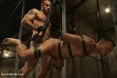 Photo number 11 from The Most Violent Orgasm in Bound Gods History shot for Bound Gods on Kink.com. Featuring Spencer Reed and Jessie Colter in hardcore BDSM & Fetish porn.