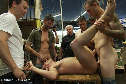 Photo number 8 from Studly shoplifter gets an eggplant up his ass and a face full of cum a shot for boundinpublic on Kink.com. Featuring Jacob Durham and Christian Wilde in hardcore BDSM & Fetish porn.