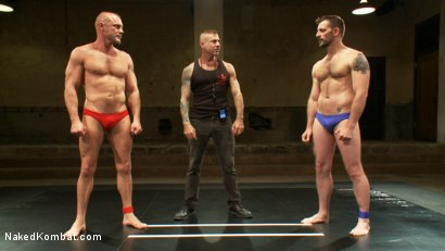 Photo number 3 from Two HOT Muscle Men Duke it Out shot for Naked Kombat on Kink.com. Featuring Morgan Black and Chad Brock in hardcore BDSM & Fetish porn.