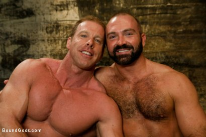 Photo number 15 from Onyx and Redz Once More shot for Bound Gods on Kink.com. Featuring Derek Pain and Josh West in hardcore BDSM & Fetish porn.