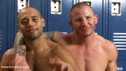 Photo number 4 from Brenn Wyson vs. Leo Forte shot for Naked Kombat on Kink.com. Featuring Brenn Wyson and Leo Forte in hardcore BDSM & Fetish porn.