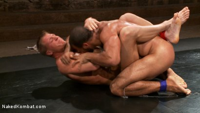 Photo number 2 from Gavin Waters vs. Roman Wright shot for Naked Kombat on Kink.com. Featuring Gavin Waters and Roman Wright in hardcore BDSM & Fetish porn.