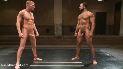 Photo number 6 from Gavin Waters vs. Roman Wright shot for Naked Kombat on Kink.com. Featuring Gavin Waters and Roman Wright in hardcore BDSM & Fetish porn.