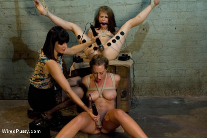 Photo number 8 from Kissing Co-Eds shot for Wired Pussy on Kink.com. Featuring Bobbi Starr, Sensi Pearl and Lizzy London in hardcore BDSM & Fetish porn.