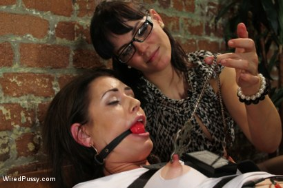 Photo number 3 from The Doctor Is In shot for Wired Pussy on Kink.com. Featuring Bobbi Starr, Sarah Shevon and Kristina Rose in hardcore BDSM & Fetish porn.