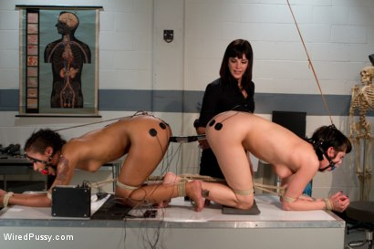 Photo number 10 from Interrogation Room shot for Wired Pussy on Kink.com. Featuring Bobbi Starr, Asphyxia Noir and Skin Diamond in hardcore BDSM & Fetish porn.