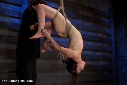 Photo number 1 from Juliette Day 2  Heavy Labor, Intense Bondage, and Brutal Torment shot for The Training Of O on Kink.com. Featuring Juliette March and Alexxa Bound in hardcore BDSM & Fetish porn.