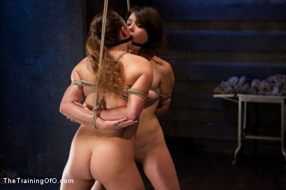 Photo number 5 from Juliette Day 2  Heavy Labor, Intense Bondage, and Brutal Torment shot for The Training Of O on Kink.com. Featuring Juliette March and Alexxa Bound in hardcore BDSM & Fetish porn.