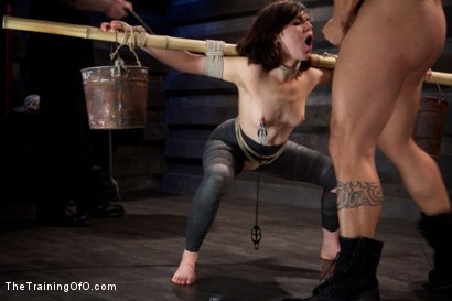 """Photo number 10 from Juliette March """"pixie"""" Day 3<br>Sexual Slave Training, Humiliation, & Endurance Testing shot for The Training Of O on Kink.com. Featuring Juliette March and Derrick Pierce in hardcore BDSM & Fetish porn."""