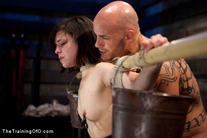 """Photo number 15 from Juliette March """"pixie"""" Day 3<br>Sexual Slave Training, Humiliation, & Endurance Testing shot for The Training Of O on Kink.com. Featuring Juliette March and Derrick Pierce in hardcore BDSM & Fetish porn."""