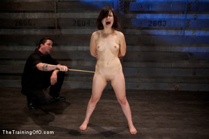 "Photo number 3 from Juliette March ""pixie"" Day 3<br>Sexual Slave Training, Humiliation, & Endurance Testing shot for The Training Of O on Kink.com. Featuring Juliette March and Derrick Pierce in hardcore BDSM & Fetish porn."