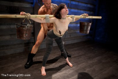 "Photo number 7 from Juliette March ""pixie"" Day 3<br>Sexual Slave Training, Humiliation, & Endurance Testing shot for The Training Of O on Kink.com. Featuring Juliette March and Derrick Pierce in hardcore BDSM & Fetish porn."