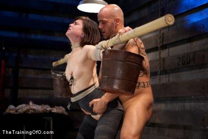 "Photo number 8 from Juliette March ""pixie"" Day 3<br>Sexual Slave Training, Humiliation, & Endurance Testing shot for The Training Of O on Kink.com. Featuring Juliette March and Derrick Pierce in hardcore BDSM & Fetish porn."