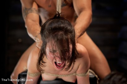 Photo number 11 from Juliette Day 4<br>Sadistic Sexual Slave Training shot for The Training Of O on Kink.com. Featuring Juliette March and Derrick Pierce in hardcore BDSM & Fetish porn.