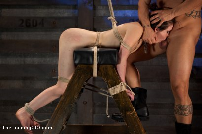 Photo number 12 from Juliette Day 4<br>Sadistic Sexual Slave Training shot for The Training Of O on Kink.com. Featuring Juliette March and Derrick Pierce in hardcore BDSM & Fetish porn.