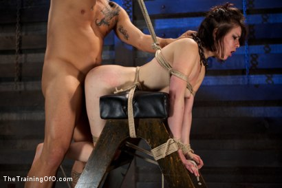 Photo number 14 from Juliette Day 4<br>Sadistic Sexual Slave Training shot for The Training Of O on Kink.com. Featuring Juliette March and Derrick Pierce in hardcore BDSM & Fetish porn.
