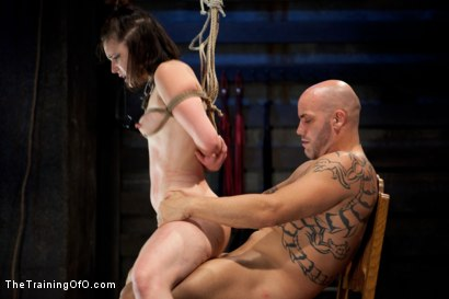 Photo number 8 from Juliette Day 4<br>Sadistic Sexual Slave Training shot for The Training Of O on Kink.com. Featuring Juliette March and Derrick Pierce in hardcore BDSM & Fetish porn.