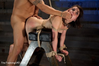 Photo number 9 from Juliette Day 4<br>Sadistic Sexual Slave Training shot for The Training Of O on Kink.com. Featuring Juliette March and Derrick Pierce in hardcore BDSM & Fetish porn.