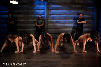 Photo number 3 from Five Girl Intake<br>The Elimination Begins shot for The Training Of O on Kink.com. Featuring Juliette March, Eden Coxxx, Alexxa Bound, Maxine Holloway and Dana Vixen in hardcore BDSM & Fetish porn.