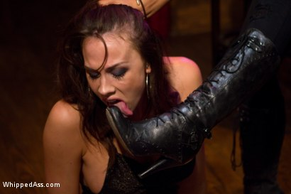 Photo number 2 from Unhappy Hooker shot for Whipped Ass on Kink.com. Featuring Isis Love and Chanel Preston in hardcore BDSM & Fetish porn.