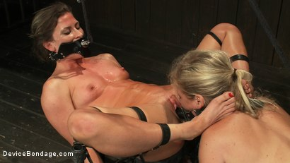 Photo number 11 from Puzzle Perfect - Face fucking, Ass Hook Tugging, Hard Flogging Mayhem shot for Device Bondage on Kink.com. Featuring Dia Zerva and Ariel X in hardcore BDSM & Fetish porn.