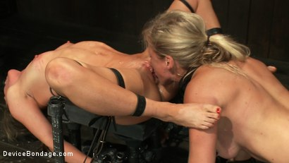 Photo number 4 from Puzzle Perfect - Face fucking, Ass Hook Tugging, Hard Flogging Mayhem shot for Device Bondage on Kink.com. Featuring Dia Zerva and Ariel X in hardcore BDSM & Fetish porn.