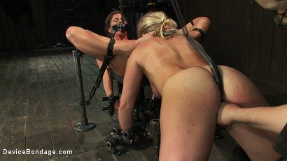 Photo number 9 from Puzzle Perfect - Face fucking, Ass Hook Tugging, Hard Flogging Mayhem shot for Device Bondage on Kink.com. Featuring Dia Zerva and Ariel X in hardcore BDSM & Fetish porn.