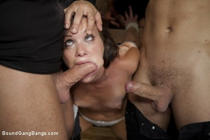 Photo number 5 from Hot Wife is Kidnapped, Bound, Fucked, and Finished off with Anal Creampie shot for Bound Gang Bangs on Kink.com. Featuring Alysa, Mark Davis, Mr. Pete, Mickey Mod, Dietrich Cyrus, Mark Wood and Bobby Bends in hardcore BDSM & Fetish porn.