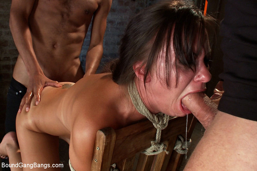 Download BoundGangBangs.com - Hot Wife is Kidnapped, Bound, Fucked, and Finished off with Anal Creampie