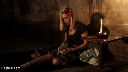 "Photo number 2 from ""Into The Darkness"": A Hogtied Featured movie. A fantasy BDSM abduction movie starring Rylie Richman shot for Hogtied on Kink.com. Featuring Rylie Richman, Mark Davis, Bella Rossi, Audrey Rose and Rain DeGrey in hardcore BDSM & Fetish porn."