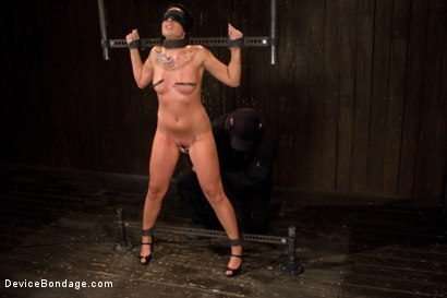 Photo number 2 from Hot and sweaty - trials of a porn star  shot for Device Bondage on Kink.com. Featuring Aria Aspen in hardcore BDSM & Fetish porn.