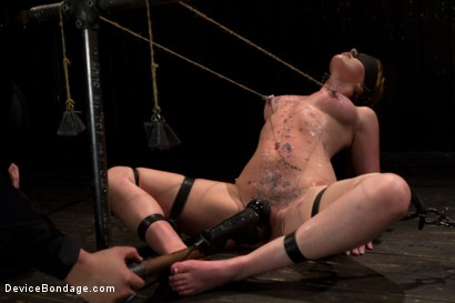 Photo number 10 from Red Hair Fair Skin - finger fucked, machine fucked, extreme nipple play, hot wax, hard caning. shot for Device Bondage on Kink.com. Featuring Marie McCray in hardcore BDSM & Fetish porn.