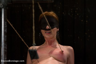 Photo number 4 from Red Hair Fair Skin - finger fucked, machine fucked, extreme nipple play, hot wax, hard caning. shot for Device Bondage on Kink.com. Featuring Marie McCray in hardcore BDSM & Fetish porn.
