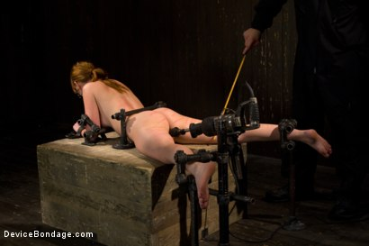 Photo number 11 from Red Hair Fair Skin - finger fucked, machine fucked, extreme nipple play, hot wax, hard caning. shot for Device Bondage on Kink.com. Featuring Marie McCray in hardcore BDSM & Fetish porn.