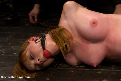 Photo number 14 from Red Hair Fair Skin - finger fucked, machine fucked, extreme nipple play, hot wax, hard caning. shot for Device Bondage on Kink.com. Featuring Marie McCray in hardcore BDSM & Fetish porn.