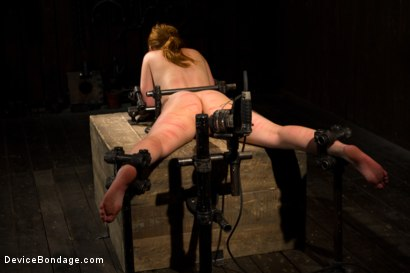 Photo number 5 from Red Hair Fair Skin - finger fucked, machine fucked, extreme nipple play, hot wax, hard caning. shot for Device Bondage on Kink.com. Featuring Marie McCray in hardcore BDSM & Fetish porn.