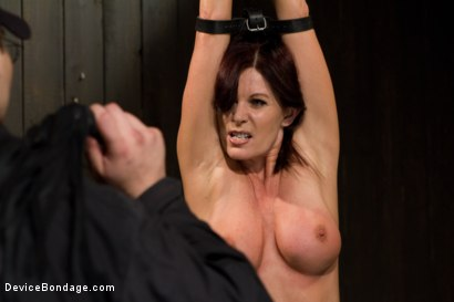 Photo number 2 from Mature Alert: Curvaceous first timer  shot for Device Bondage on Kink.com. Featuring Magdalene St. Michaels in hardcore BDSM & Fetish porn.