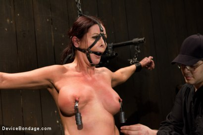 Photo number 9 from Mature Alert: Curvaceous first timer  shot for Device Bondage on Kink.com. Featuring Magdalene St. Michaels in hardcore BDSM & Fetish porn.
