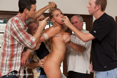 Photo number 3 from 19 Year Old With Big Natural Tits Gets Dicked Down by 5 Older Men shot for Bound Gang Bangs on Kink.com. Featuring Lizzy London, Mark Wood, Jack Moore, Jay Crew, Blake Palmer and Otto Bauer in hardcore BDSM & Fetish porn.