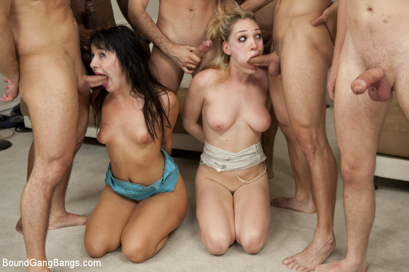 Download BoundGangBangs.com - Two Girl Gang Bang