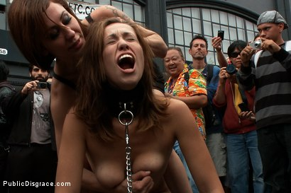 Photo number 1 from Folsom Street Fair shot for Public Disgrace on Kink.com. Featuring Audrey Rose, Mickey Mod and Princess Donna Dolore in hardcore BDSM & Fetish porn.