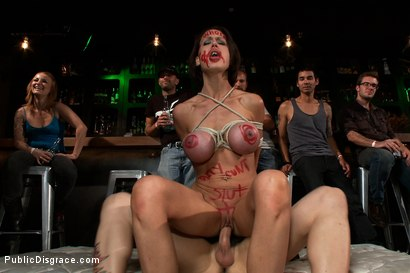 Photo number 13 from Big Tittied McKenzie Lee is Disgraced in Public Bar shot for Public Disgrace on Kink.com. Featuring Tommy Pistol, Princess Donna Dolore and Mckenzie Lee in hardcore BDSM & Fetish porn.