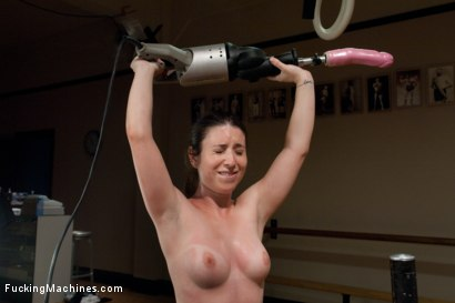 Photo number 10 from Fitness Sex: Make Her Sweat, Make Her Cum with Machines shot for Fucking Machines on Kink.com. Featuring Ariel X and Serena Blair in hardcore BDSM & Fetish porn.