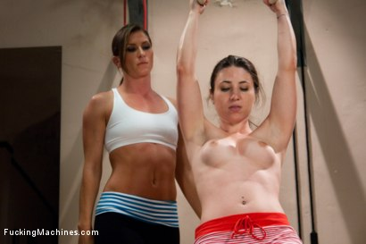 Photo number 1 from Raw. Sexual. Endurance. Ariel X's NAKED WORKOUT shot for Fucking Machines on Kink.com. Featuring Ariel X and Serena Blair in hardcore BDSM & Fetish porn.