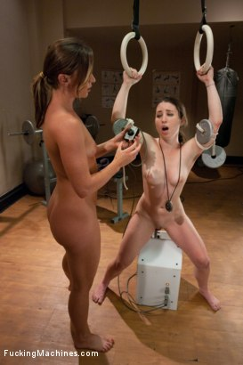 Photo number 14 from Raw. Sexual. Endurance. Ariel X's NAKED WORKOUT shot for Fucking Machines on Kink.com. Featuring Ariel X and Serena Blair in hardcore BDSM & Fetish porn.