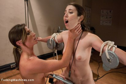 Photo number 7 from Raw. Sexual. Endurance. Ariel X's NAKED WORKOUT shot for Fucking Machines on Kink.com. Featuring Ariel X and Serena Blair in hardcore BDSM & Fetish porn.