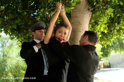 Photo number 1 from Fantasies of a Submissive Wife shot for Sex And Submission on Kink.com. Featuring James Deen, John Strong, Kristina Rose and Lizzy London in hardcore BDSM & Fetish porn.